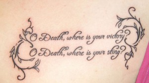 Death Bible Verse Tattoo