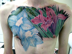Colorful Bold Flower Tattoo