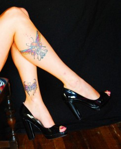 Fairy tattoo on leg