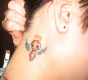 Cute Angel Neck Tattoo