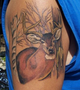 Awesome Deer Tattoo