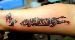 Duck and Hound Hunting Tattoo