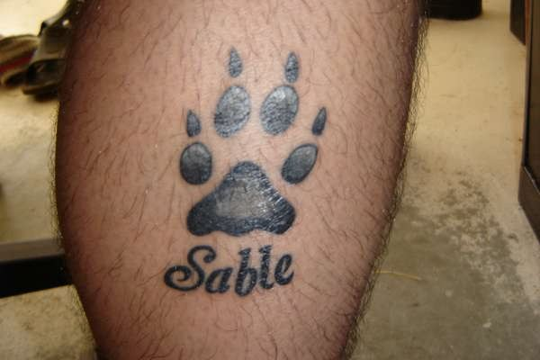 15 playful dog paw tattoos tattoo me now. Black Bedroom Furniture Sets. Home Design Ideas