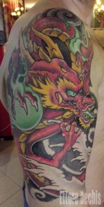 japanese dragon on arm