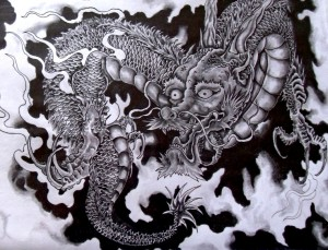 japanese dragon tattoo art