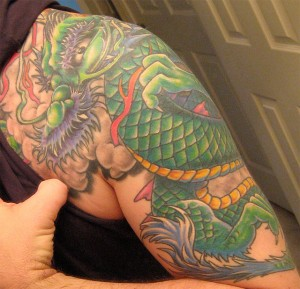 Dragon Shoulder Tattoo