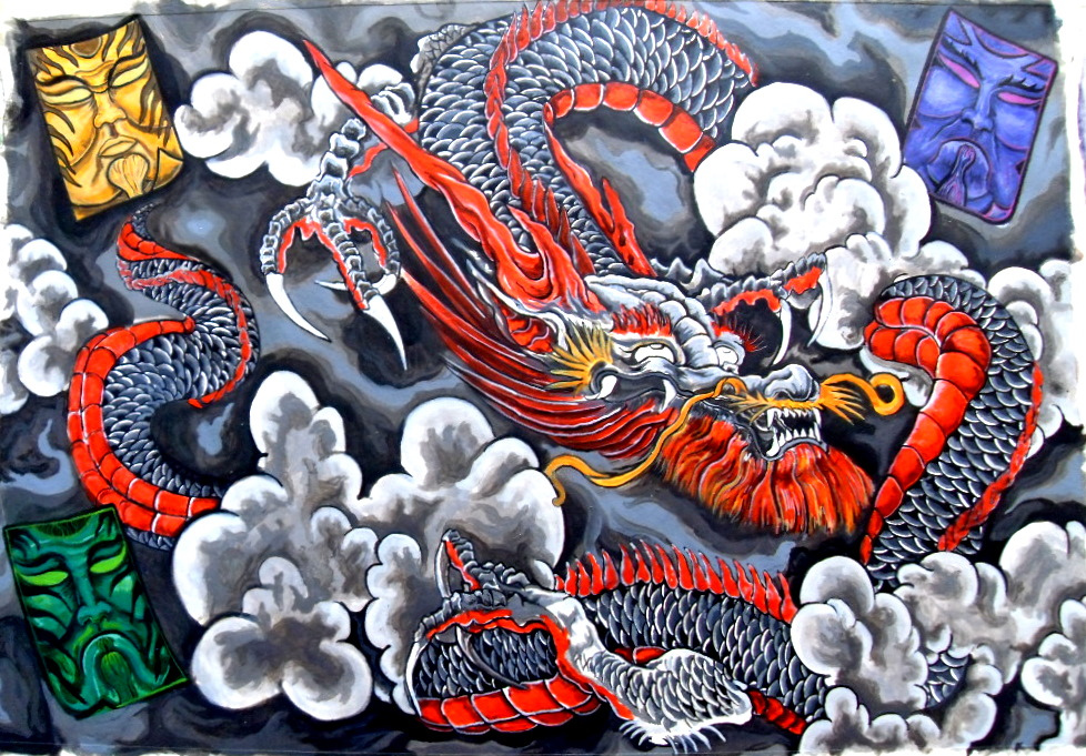 Japanese dragon tattoos you need to check out for Japanese dragon painting