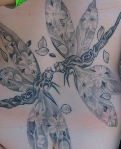 two Dragonflies Tattoo