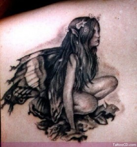 fairy blossom tattoo