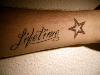 elegant forearm tattoo