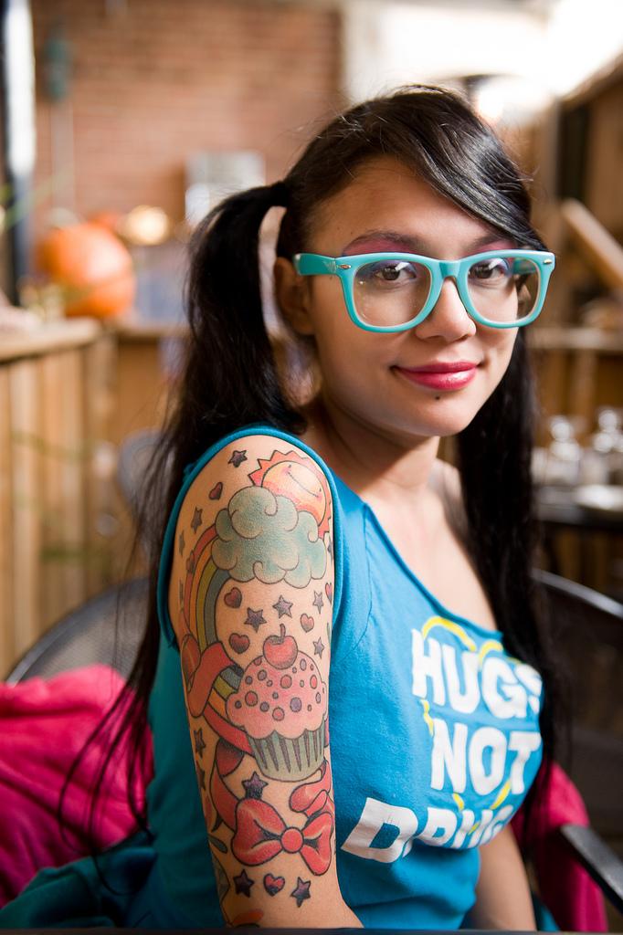 Half Sleeve Tattoo Woman