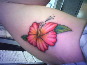 Single Hawaiian Flower Tattoo