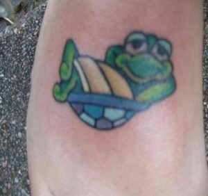 Chillin' Turtle Tattoo