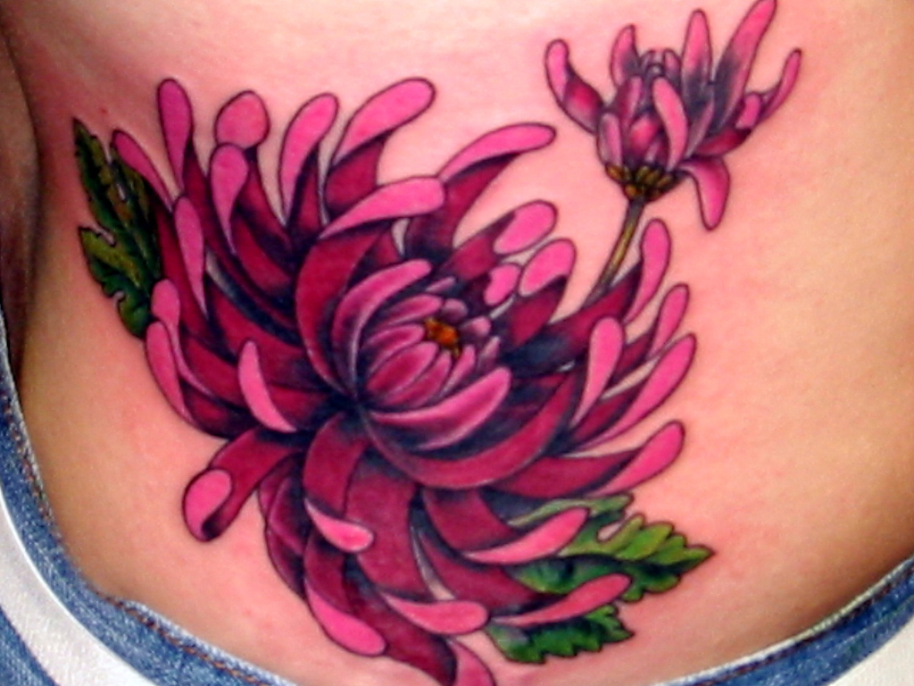 Flower tattoos tattoo designs and ideas for men women pink flower tattoo design izmirmasajfo
