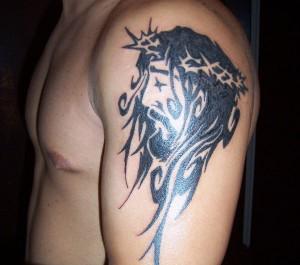 Bold Jesus Tattoo