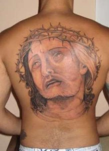 Full Back Jesus Tattoo