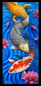 katch 1/ mike higuchi koi painting