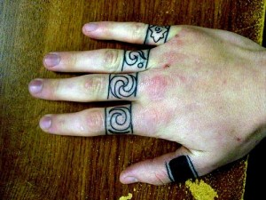 Bands Knuckle Tattoo