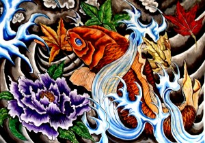 Red Koi Tattoo