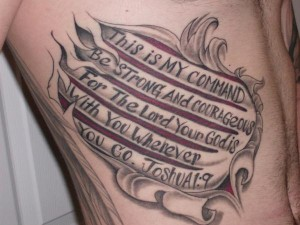 Bible Verse Tattoo for Strength