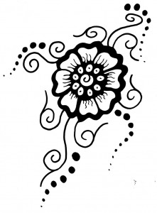 Small flower tattoo design