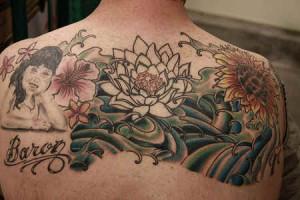 Bold Flower Tattoo
