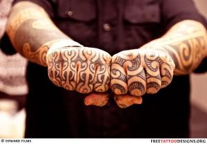 Maori Style Knuckle Tattoo