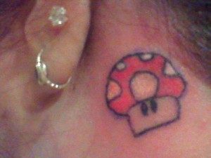 Video Game Mushroom Tattoo