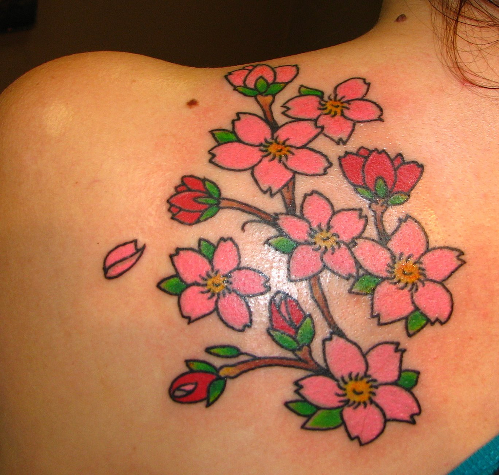 Cherry Blossom Tattoos Beautiful Designs Ideas And Meaning Of