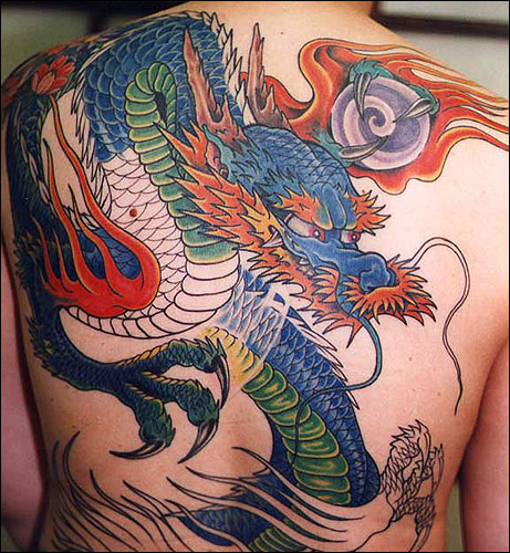 22 unique japanese dragon tattoos designs. Black Bedroom Furniture Sets. Home Design Ideas