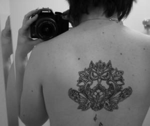 back owl tattoo