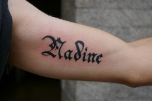 nadine name tattoo