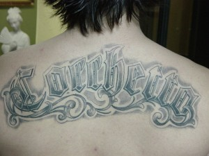 Back Name Tattoo