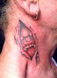 Vampire Neck Tattoo