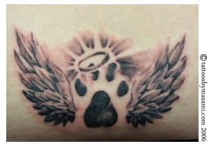 Memory  Paw Print Tattoo