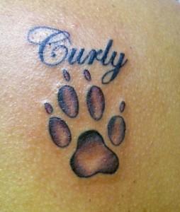 Simple Dog Paw Tattoo