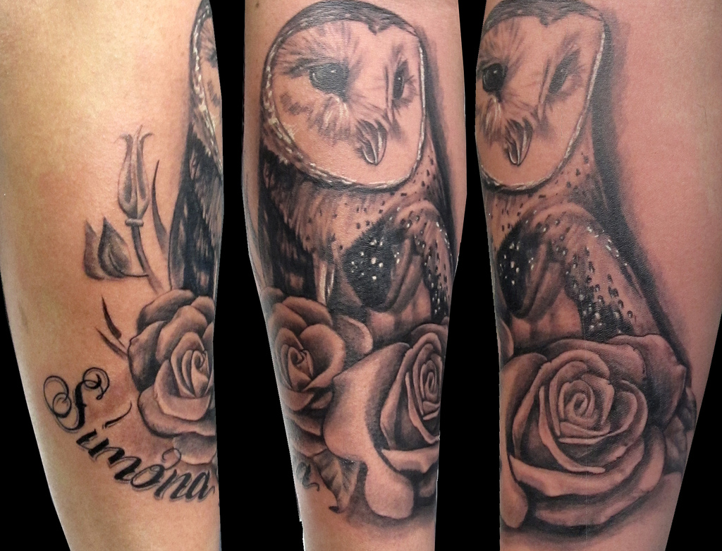 Where on the body can you wear an Owl Tattoo?