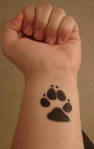 Black Paw Print Tattoo