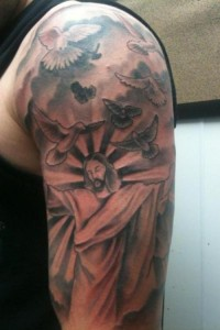 Sleeve Design Jesus Tattoo