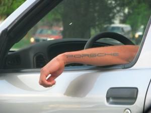 porsche tattoo