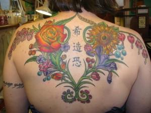 Random Flowers on back