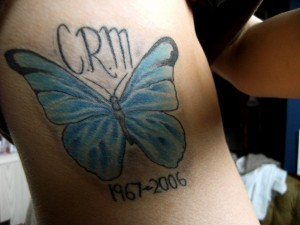 R.I.P butterfly tattoo