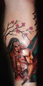 Serious Samurai Tattoo