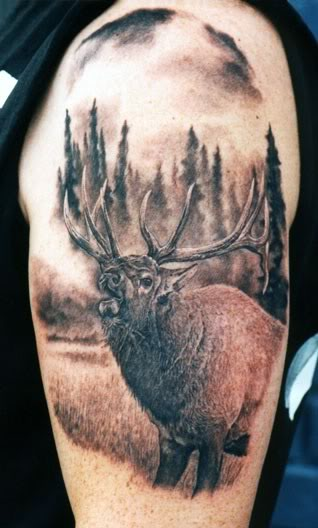 20 great hunting tattoos tattoo me now. Black Bedroom Furniture Sets. Home Design Ideas