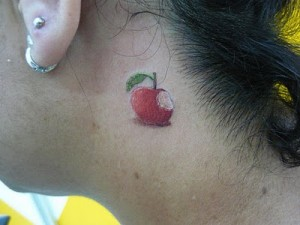 Apple Neck Tattoo