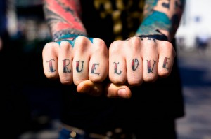 True Love Knuckle Tattoo