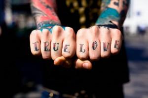 True Love Knuckle Tattoo