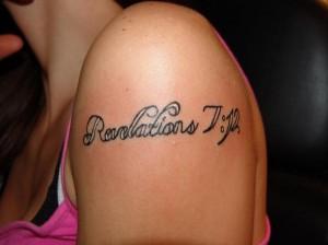 Blessing Bible Verse Tattoo