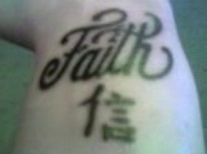 Nice Font Faith Tattoo