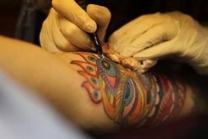 sleeve tattoo in progress